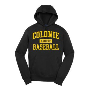 Black Colonie Raiders Baseball Youth Sport-Tek Pullover Hooded Sweatshirt