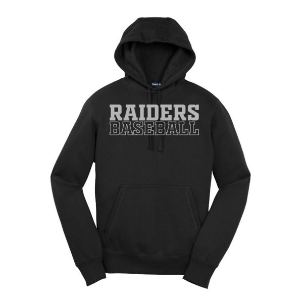 Black Raiders Baseball Youth Sport-Tek Pullover Hooded Sweatshirt
