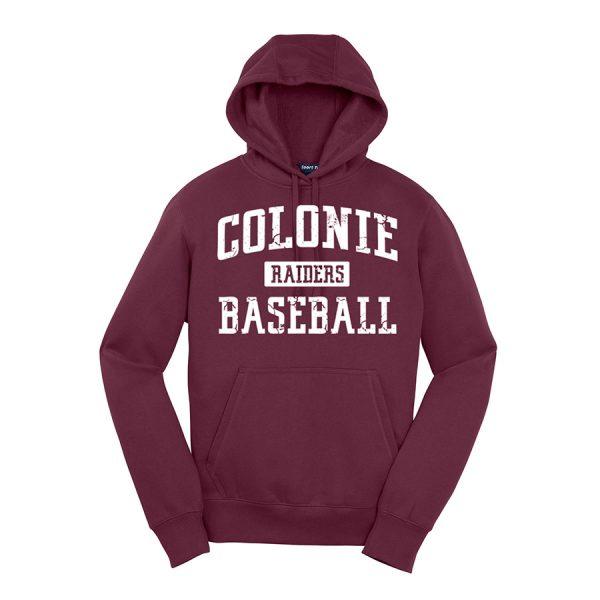 Maroon Colonie Raiders Baseball Youth Sport-Tek Pullover Hooded Sweatshirt