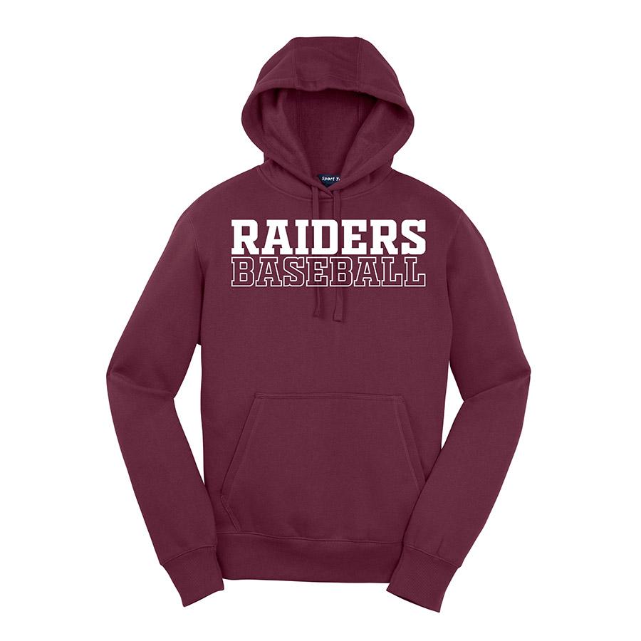 Maroon Raiders Baseball Youth Sport-Tek Pullover Hooded Sweatshirt