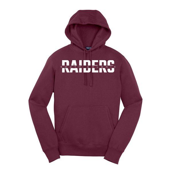 Maroon South Colonie Raiders Youth Sport-Tek Pullover Hooded Sweatshirt