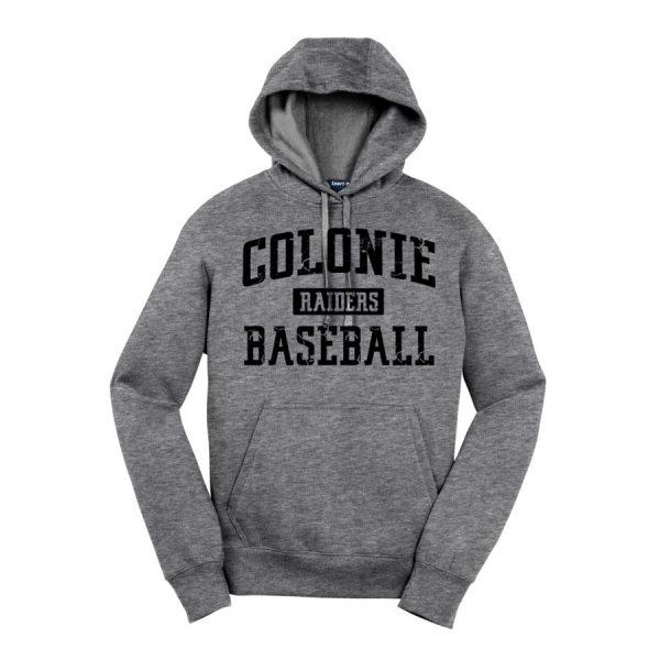 Vintage Heather Colonie Raiders Baseball Youth Sport-Tek Pullover Hooded Sweatshirt