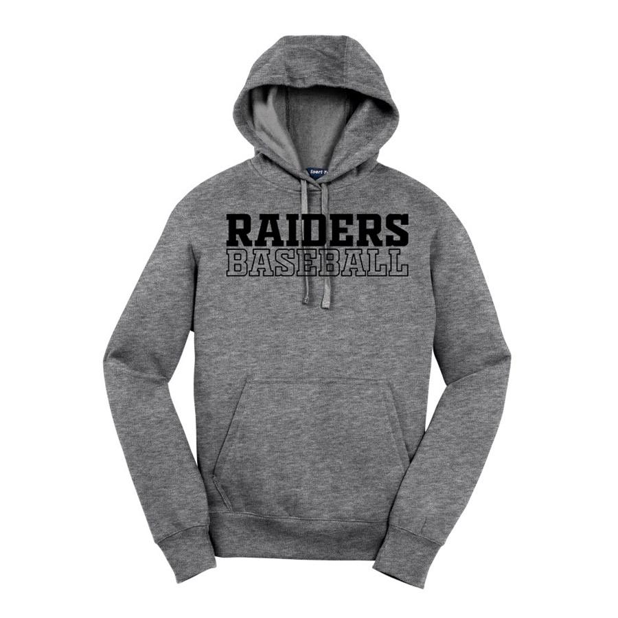 Vintage Heather Raiders Baseball Youth Sport-Tek Pullover Hooded Sweatshirt