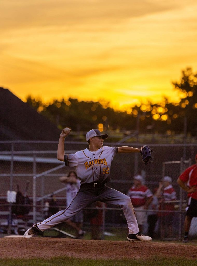Pitcher at sunset