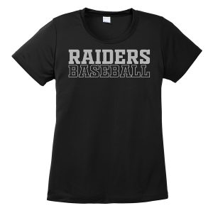 Black Raiders Baseball Ladies Performance Cooling Tee