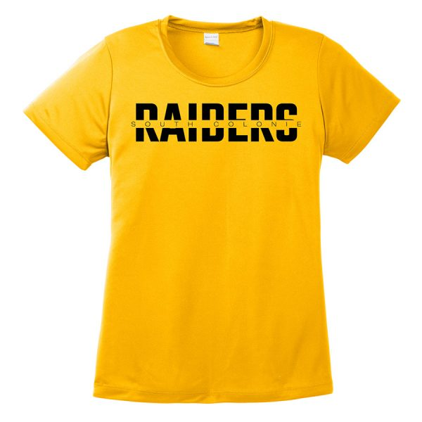 Gold South Colonie Raiders Ladies Performance Cooling Tee