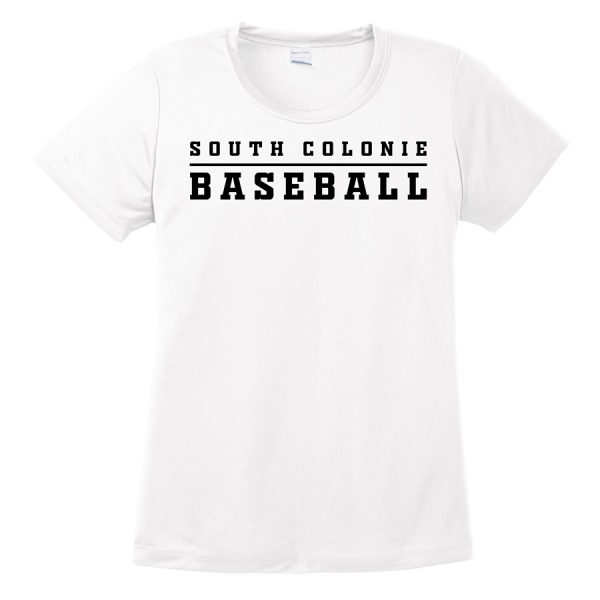 White South Colonie Baseball Ladies Performance Cooling Tee