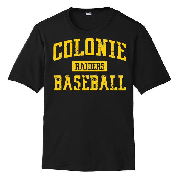 Black Colonie Raiders Baseball Performance Cooling Tee