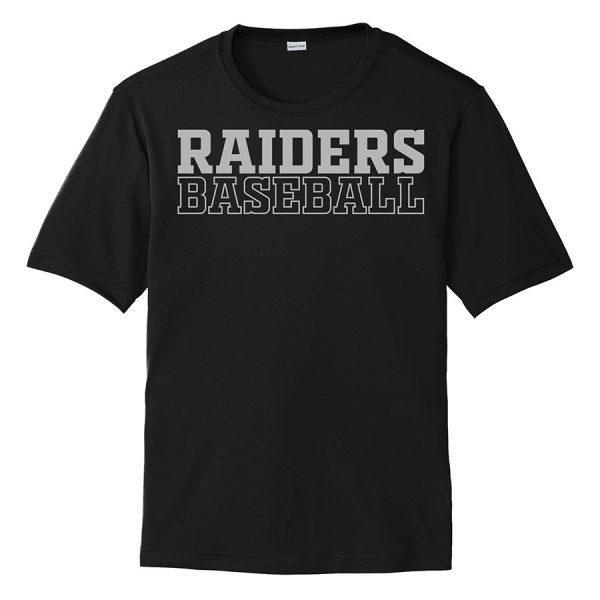 Black Raiders Baseball Performance Cooling Tee