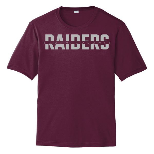 Maroon South Colonie Raiders Performance Cooling Tee