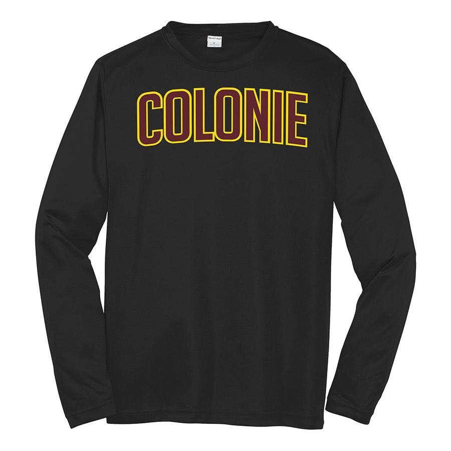 Black Colonie Long Sleeve Performance Cooling Tee