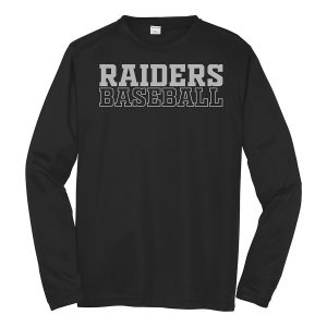 Black Raiders Baseball Long Sleeve Performance Cooling Tee