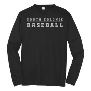 Black South Colonie Baseball Long Sleeve Performance Cooling Tee