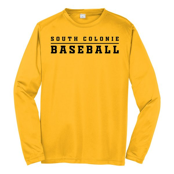 Gold South Colonie Baseball Long Sleeve Performance Cooling Tee