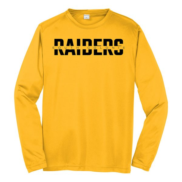 Gold South Colonie Raiders Long Sleeve Performance Cooling Tee