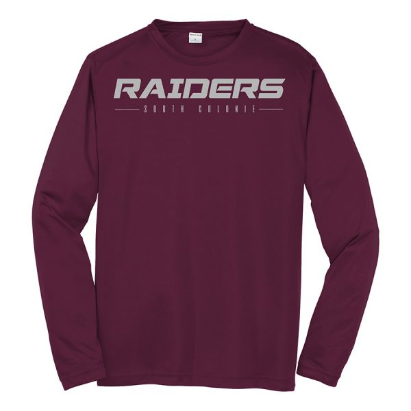 Maroon Raiders South Colonie Long Sleeve Performance Cooling Tee