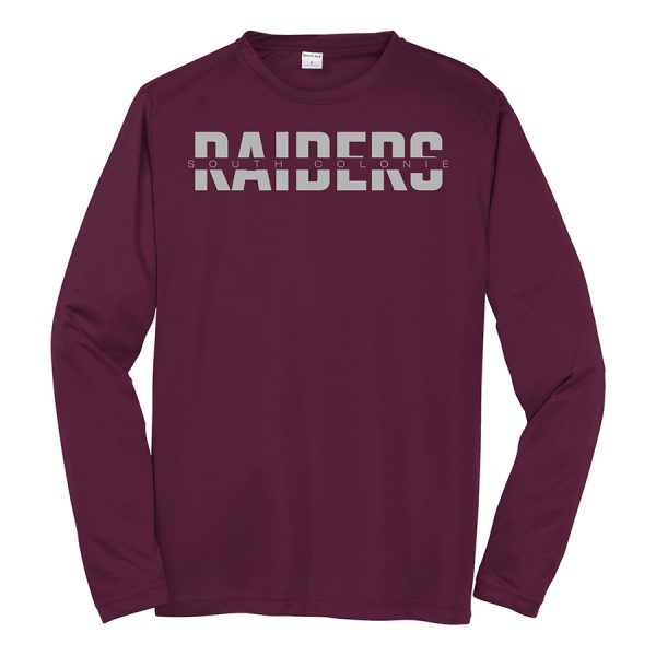 Maroon South Colonie Raiders Long Sleeve Performance Cooling Tee