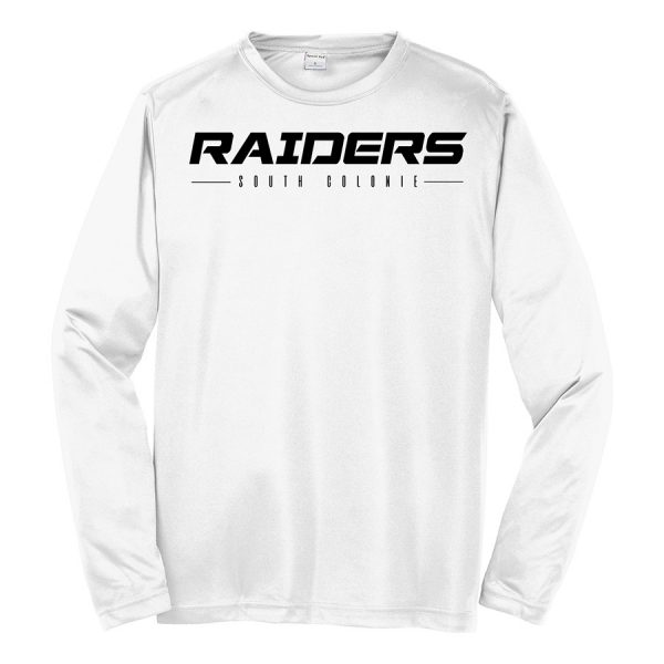 White Raiders South Colonie Long Sleeve Performance Cooling Tee