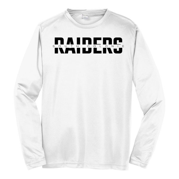 White South Colonie Raiders Long Sleeve Performance Cooling Tee