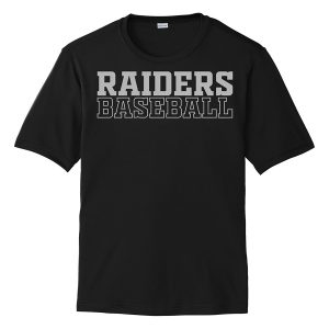 Black Raiders Baseball Youth Performance Cooling Tee
