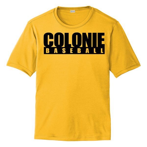 Gold Colonie Baseball Youth Performance Cooling Tee