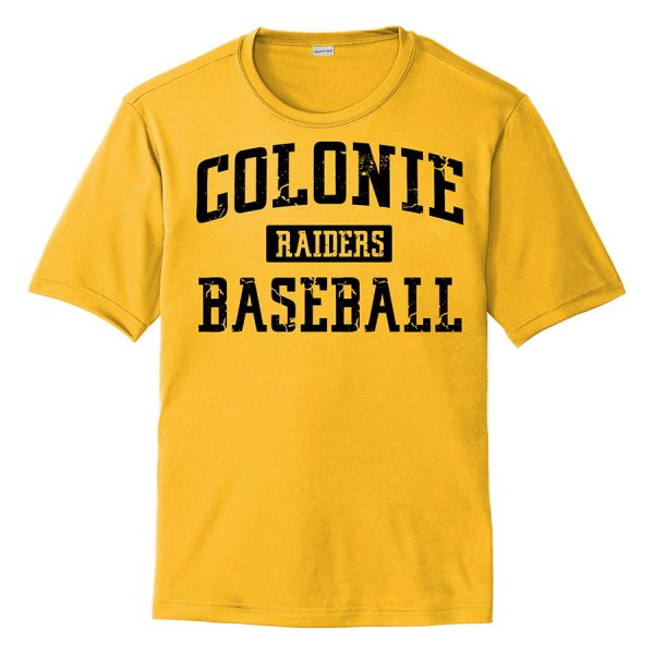 Gold Colonie Raiders Baseball Youth Performance Cooling Tee