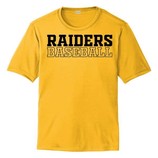 Gold Raiders Baseball Youth Performance Cooling Tee