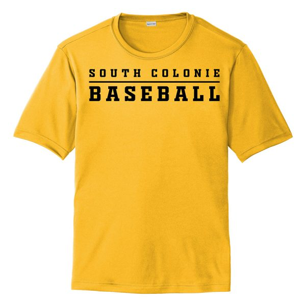 Gold South Colonie Baseball Youth Performance Cooling Tee