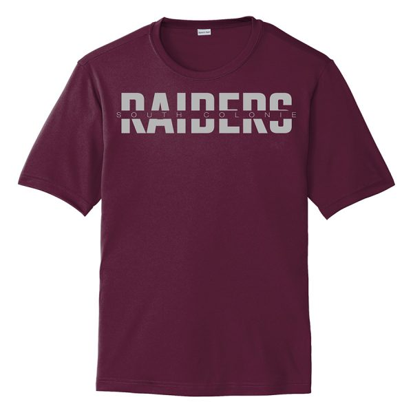 Maroon South Colonie Raiders Youth Performance Cooling Tee