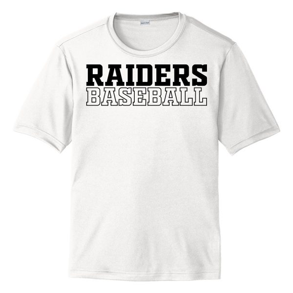 White Raiders Baseball Youth Performance Cooling Tee