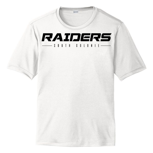 White Raiders South Colonie Youth Performance Cooling Tee