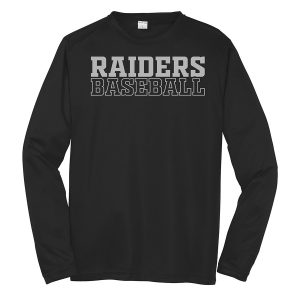 Black Raiders Baseball Youth Long Sleeve Performance Cooling Tee