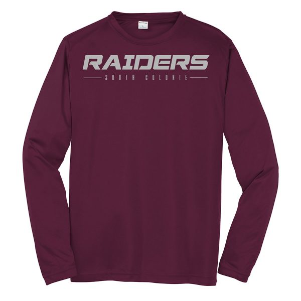 Maroon Raiders South Colonie Youth Long Sleeve Performance Cooling Tee
