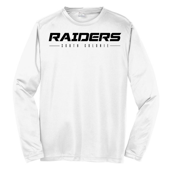 White Raiders South Colonie Youth Long Sleeve Performance Cooling Tee