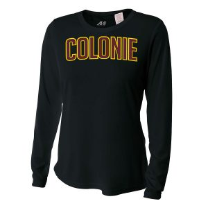 Black Colonie Ladies Long Sleeve Performance Cooling Tee