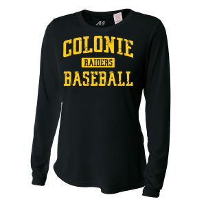 Black Colonie Raiders Baseball Ladies Long Sleeve Performance Cooling Tee