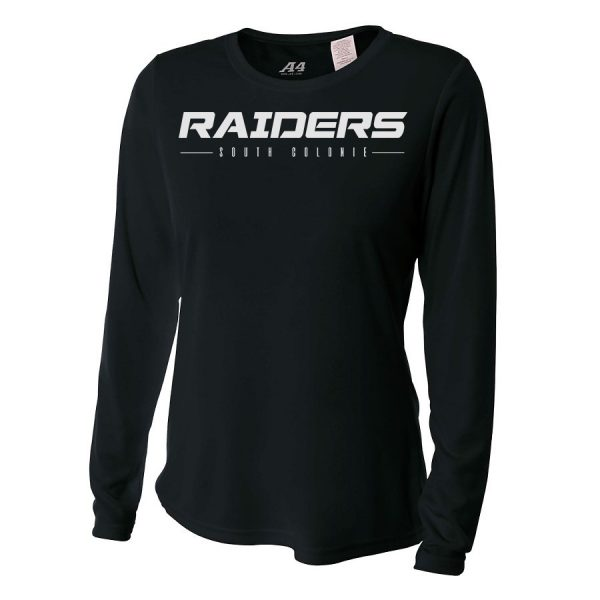 Black Raiders South Colonie Ladies Long Sleeve Performance Cooling Tee
