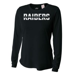 Black South Colonie Raiders Ladies Long Sleeve Performance Cooling Tee