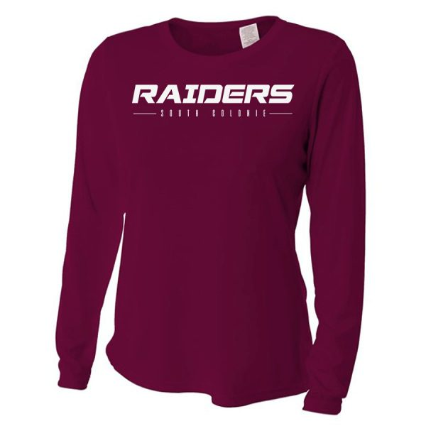 Maroon Raiders South Colonie Ladies Long Sleeve Performance Cooling Tee