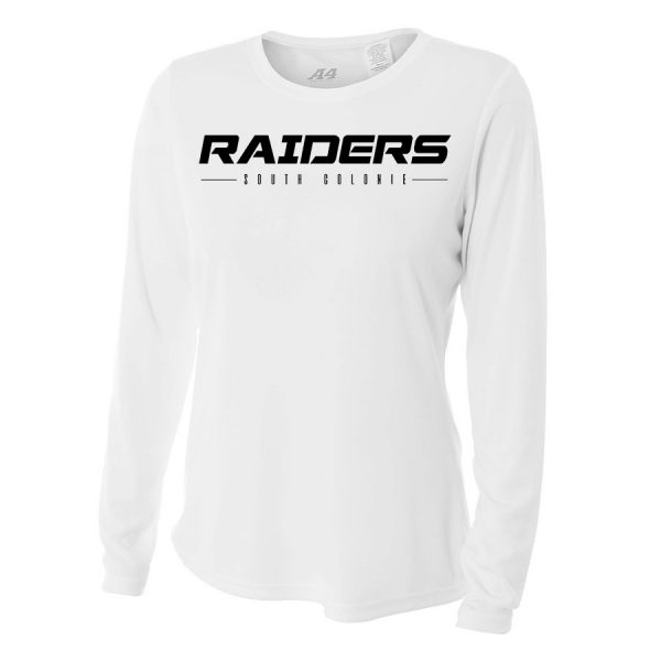White Raiders South Colonie Ladies Long Sleeve Performance Cooling Tee