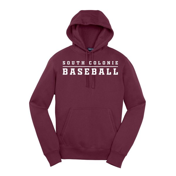 Maroon South Colonie Baseball Youth Sport-Tek Pullover Hooded Sweatshirt