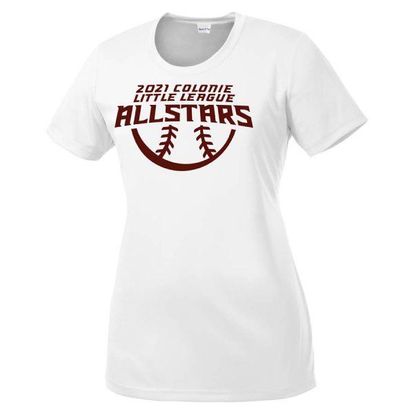 2021 AllStars Women's Short Sleeve DriFit Shirt White