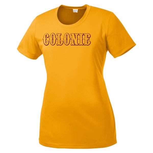 Colonie AllStars Women's Short Sleeve DriFit Shirt Gold