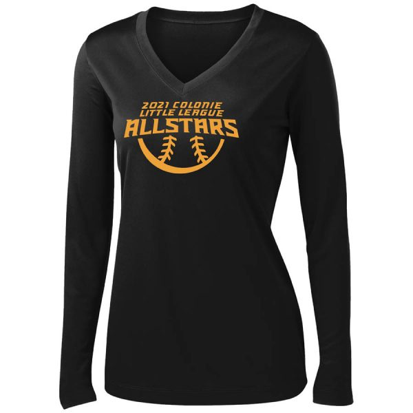 2021 AllStars Women's Long Sleeve V-Neck Shirt Black