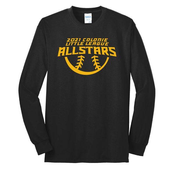2021 AllStars Long Sleeve 50/50 Blend Shirt Black