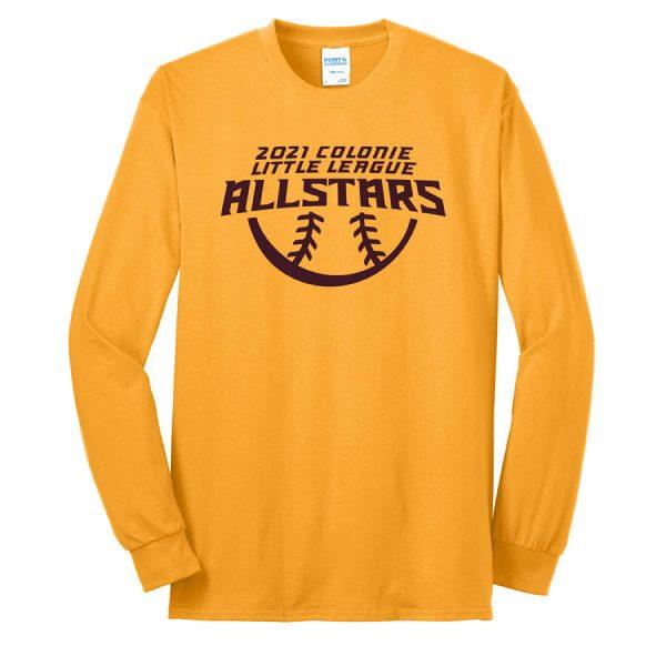 2021 AllStars Long Sleeve 50/50 Blend Shirt Gold