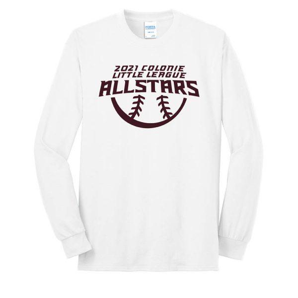 2021 AllStars Long Sleeve 50/50 Blend Shirt White