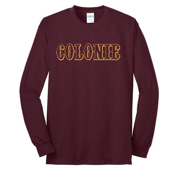 Colonie AllStars Long Sleeve 50/50 Blend Shirt Maroon