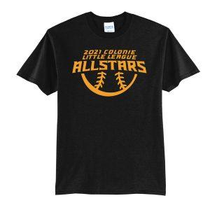 2021 AllStars Youth Short Sleeve 50/50 Blend Shirt Black