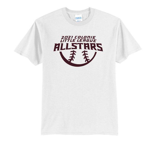 2021 AllStars Youth Short Sleeve 50/50 Blend Shirt White
